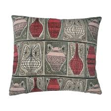 roman style home decor greco roman style vintage barkcloth cushion featuring vases and