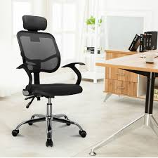 Chrome Office Desk Adjustable Chrome Executive Office Desk Computer Chair Mesh Seat