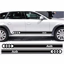 audi logo product beltline body decals car stickers personalized decoration