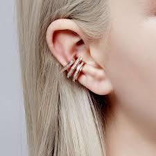 gold ear cuff gold block ear cuff