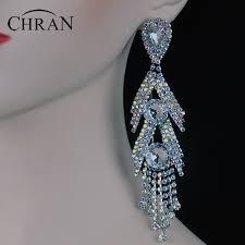 rhinestone chandelier earrings online get cheap rhinestone chandelier earring aliexpress