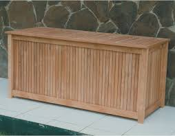 Wood Outdoor Storage Bench Royal Teak 53 In 80 Gallon Storage Deck Box Hayneedle