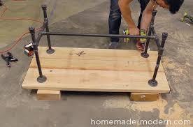Pipe Desk Diy Modern Ep68 Pipe Coffee Table
