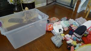 Clothes Storage Containers by Basement Control Freak Chronicles