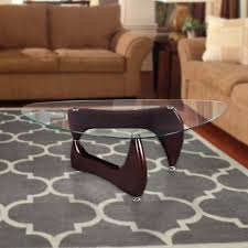 Noguchi Glass Coffee Table Fab Glass And Mirror Noguchi Style Coffee Table With Clear Glass