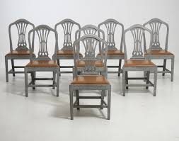 dining room chairs with leather seats 19th century chairs with leather seats set of 8 for sale at pamono