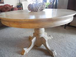 claw foot table makeover restoration hardware style my creations
