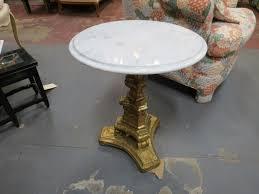 vintage pedestal side table vintage antique small round marble top pedestal side table 165