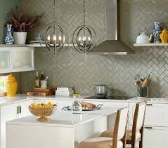 gray glass herringbone 3x6 backsplash tile with style tile