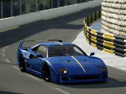 blue f40 nogripracing assetto corsa downloads f40 s3 blue chrome