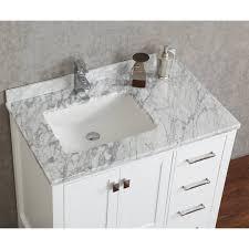 36 Inch Bathroom Vanity White Buy Vincent 36 Inch Solid Wood Single Bathroom Vanity In White Hm