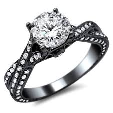 Black And Pink Wedding Rings by Mysterious Black Gold Wedding Rings Rikof Com