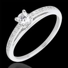 bague mariage or blanc mariage bague de fiançailles or blanc solitaire diamant avalon
