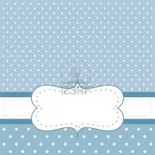 sweet blue polka dots card or invitation cute background with