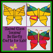 stained glass inspired butterfly crafts for kids wikki stix