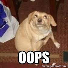 Oops Meme - oops oh you dog meme generator