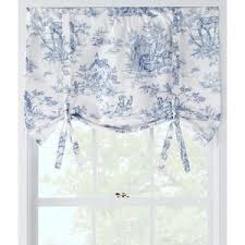 Tie Up Valance Curtains Country Curtains Lenoxdale Toile Tie Up Valance 34 W Polyvore