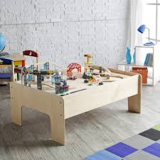 furniture spacious kids play train table with storage and white
