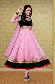 pink colour combination dresses black pink color combination long short embroidered anarkali