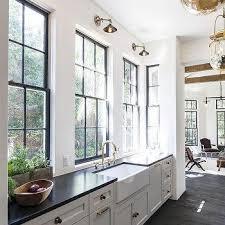 Black Galley Kitchen - black and white long galley kitchen design ideas