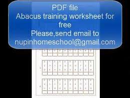 abacus worksheet youtube