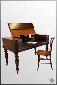 Regency Antique Writing Table Desk Bureau Leather Top Former