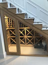 bespoke wine racking for under stairs wine storage perfect for