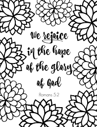 free printable scripture verse coloring pages romans bible verse