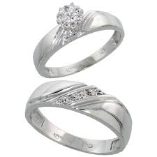 wedding ring sets his and hers white gold wedding engagement sets