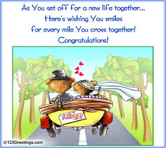 wedding wishes new journey a happy wish free just married ecards greeting cards 123 greetings