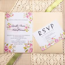 pocket invitation kits affordable classic flower lace pocket wedding invitation