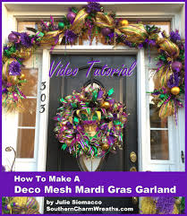 mardi gras mesh diy mardi gras garland decorations with deco mesh ribbon