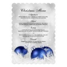 christmas dinner party menu invitations u0026 announcements zazzle
