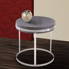 End Table Ls Sunset Stainless Steel Painted Wood End Table With Brushed