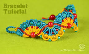 bracelet macrame patterns images Peacock tail bracelet tutorial jpg