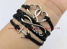 Items Similar To Love Anchors - compass bracelet anchor bracelet infinity wish bracelet gray wax