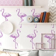 pink flamingo home decor home decor stencil ideal stencils