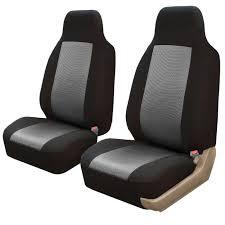 housse siege avant voiture u 2x housses de sièges avant voiture gris pour ceinture sécurité