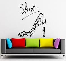 wall decals stickers home decor home furniture diy wall sticker vinyl decal beautiful ladies shoe fashion shopping glamour ig1842