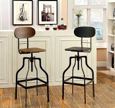 Farmhouse Style Bar Stools Amazon Com Furniture Of America Alavus Industrial Height