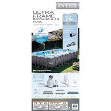Intex Pools 18x52 Amazon Com Intex 24 Foot By 12 Foot By 52 Inch Rectangular Ultra