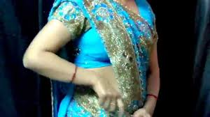 Draping Tutorial How To Wear Heavy Bridal Saree Free Style Or Fish Cut Saree