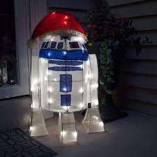 tardis r2 d2 lighted lawn ornaments