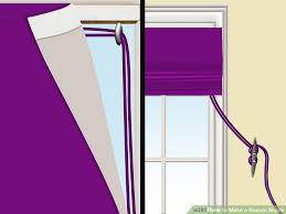 How To Measure Fabric For Roman Blinds 3 Ways To Make A Roman Shade Wikihow