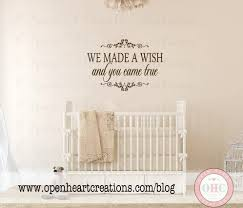Baby Name Wall Decals For Nursery by We Made A Wish And You Came True Wall Decal Baby Nursery