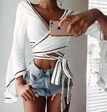 blouse tumbler blouse white blouse girly white crop tops crop