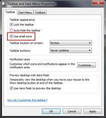 Windows 7 Top Bar To Shrink The Taskbar Icon On The Status Bar Windows 7 Xp