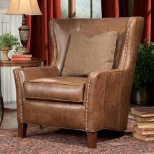 Brown Leather Accent Chair Set Of 2 Wing Back Chairs Sure Fit Stretch Suede Wing Chair Slipcover