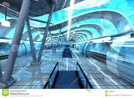 futuristic subway station stock illustration image 49588244
