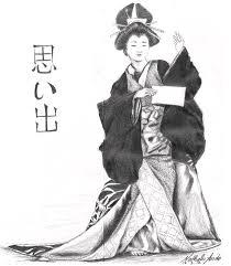geisha i drawing by nathalie ando